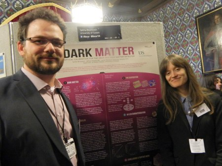 Talitha Bromwich with her JRA supervisor Dr Simon Peeters at 'Posters in Parliament' event 25 Feb 14