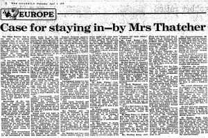 Thatcher 9 April 1975