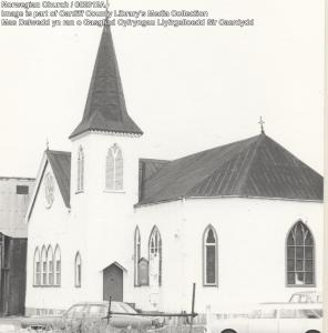 The Norwegian Church, Cardiff. Courtesy of Cardiff Local Studies Library.