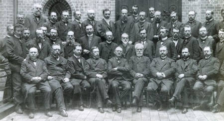 German Seamen's Pastors, 1906. Julius Jungclaussen is in the front row, fourth from the right (with the full white beard).