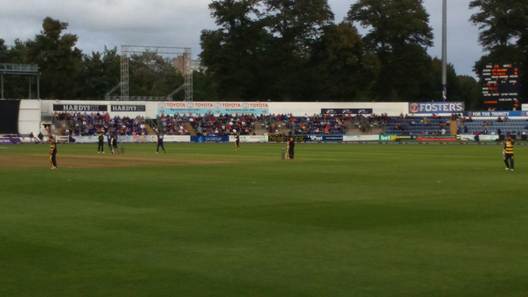 Natwest T20 Blast Quarter Final: Glamorgan v Leicestershire   In the